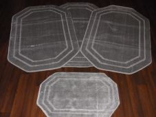ROMANY GYPSY WASHABLES LARGE SIZE WE ARE CHEAPEST 4PCS SILVER/GREY MATS/RUGS